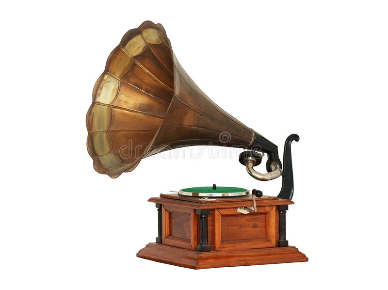 Classic Gramophone stock image