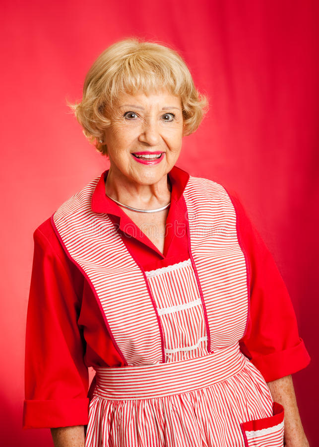 Download Classic Grandmother Or Homemaker Stock Image - Image of female, person: 27205155