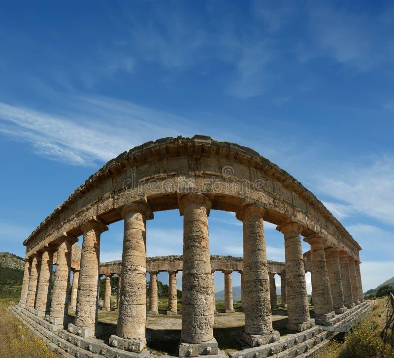 Classic Greek (Doric) Temple at Segesta stock image