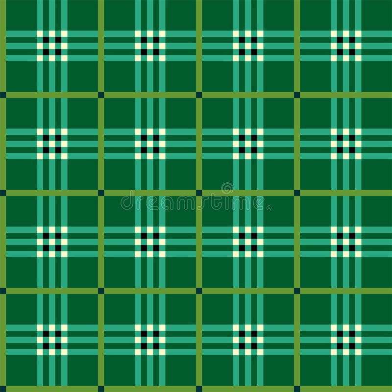 Download Classic Green Tartan Fabric Stock Vector - Illustration of decoration, ornamental: 7818717