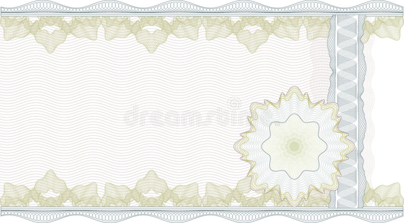 Classic guilloche border for certificate royalty free illustration