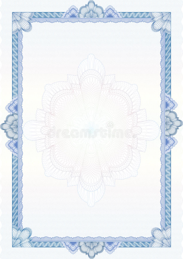 Classic Guilloche Border / Diploma Or Certificate Royalty ...