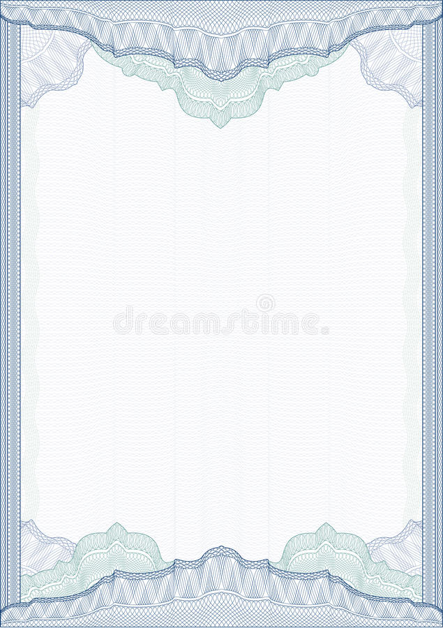 Download Classic Guilloche Border / Diploma Or Certificate Stock Vector - Image: 19052332