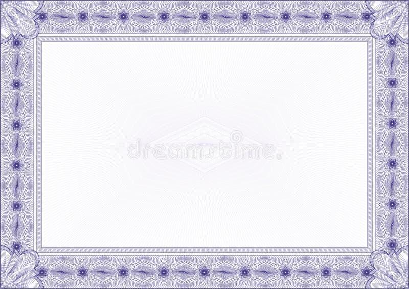 Classic guilloche border / diploma or certificate stock illustration