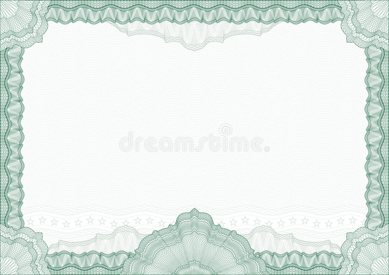 Classic guilloche border / diploma or certificate stock illustration