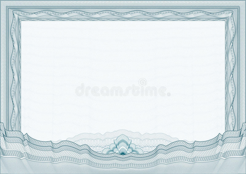 Classic guilloche border / diploma or certificate royalty free illustration