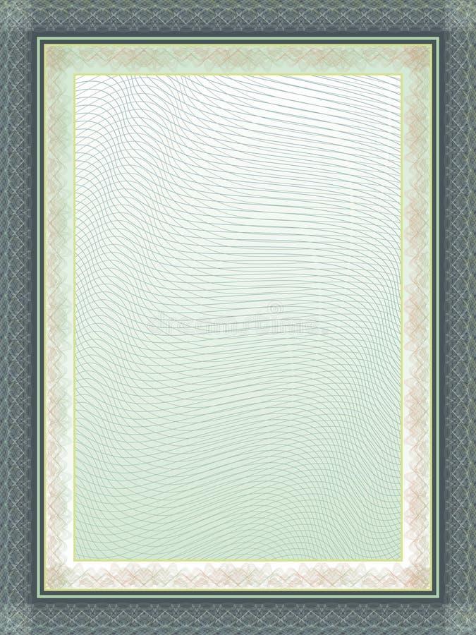 Classic guilloche border for diploma or certificate stock illustration
