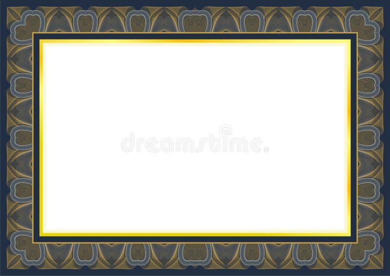 Classic Guilloche frame and border design stock illustration