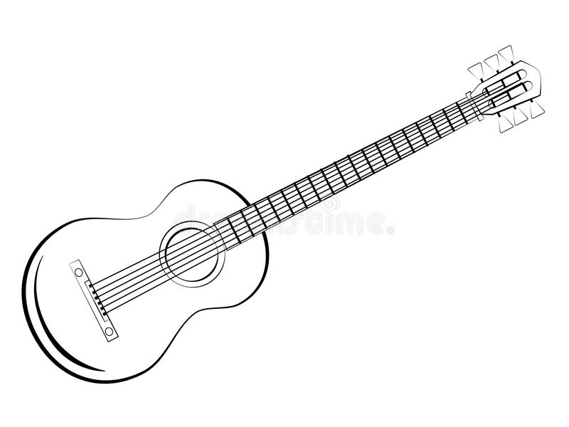 Download Classic guitar stock vector. Illustration of draw, sketch - 26016023