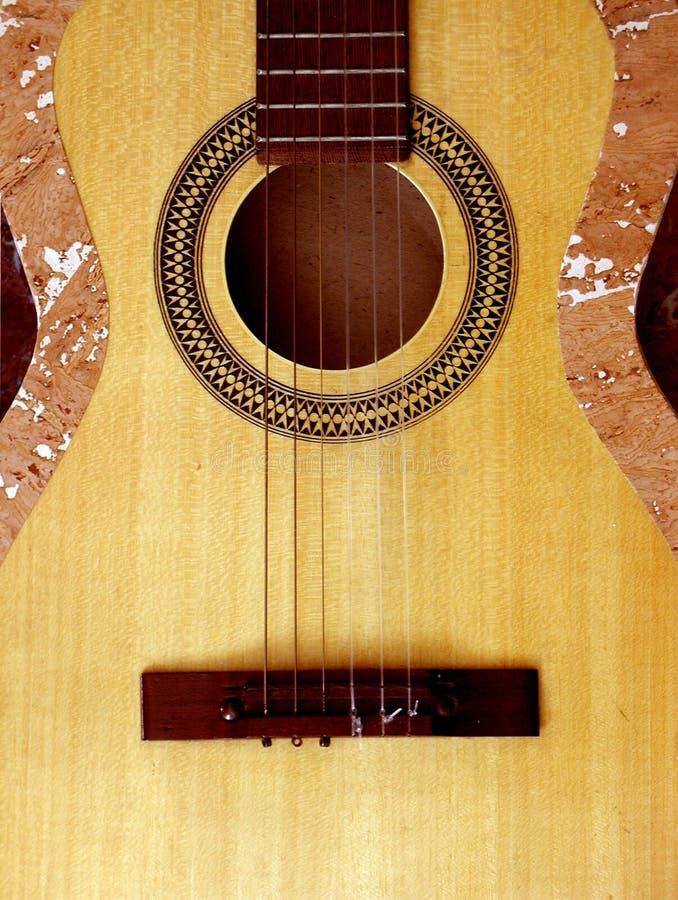 Classic guitar body royalty free stock photo
