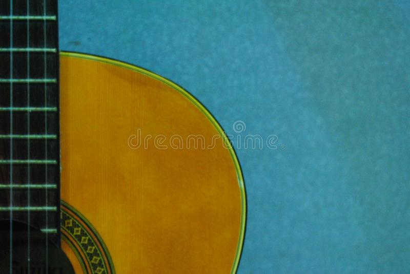 Classic Guitar Retro beautiful Nylon String Guitar. Wonderful Classic Guitar Retro beautiful Nylon String Guitar Dream and nice Background stock image