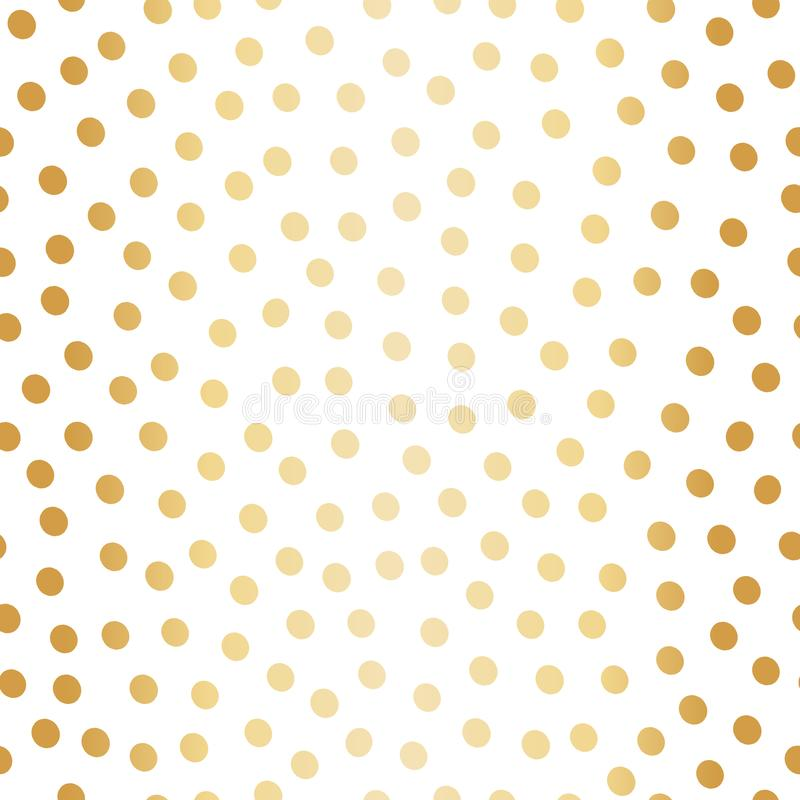 Classic hand drawn gold foil polka dot all over print design. Seamless vector pattern on white background. Great for. Christmas and celebration products vector illustration