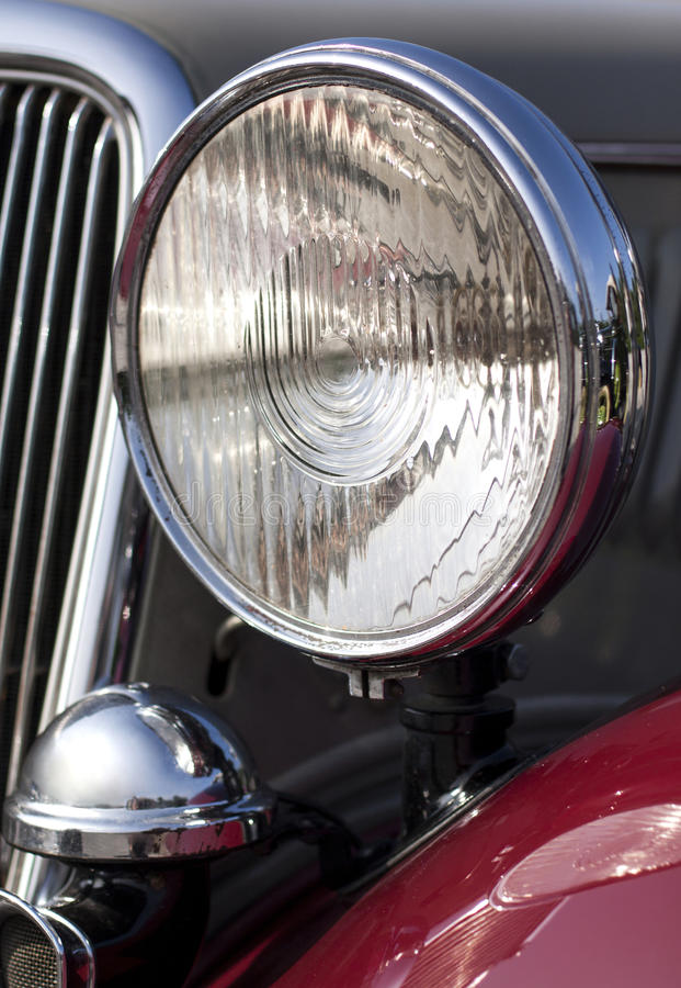 Download Classic car headlight stock photo. Image of auto, construction - 31726252