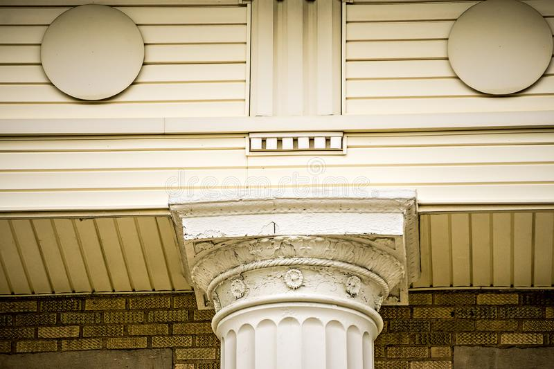 Classic historic architectural details on american building royalty free stock photography