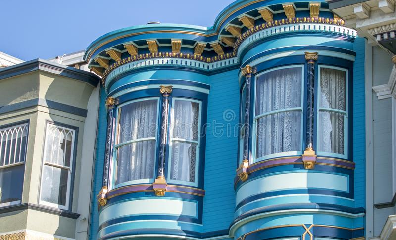 Classic home architecture of San Francisco buildings, California. USA royalty free stock images