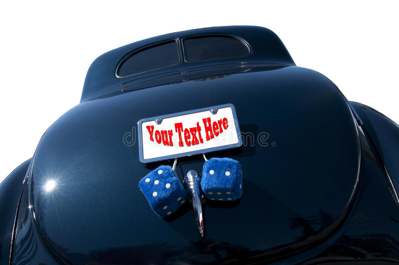 Download Classic hot rod with dice stock photo. Image of travel - 26846226
