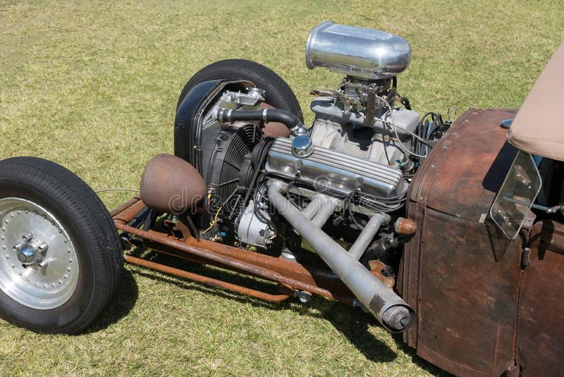 Rat rod, lots of rust and horsepower. Classic hot rod, rat rod with an abundance of horsepower royalty free stock photo
