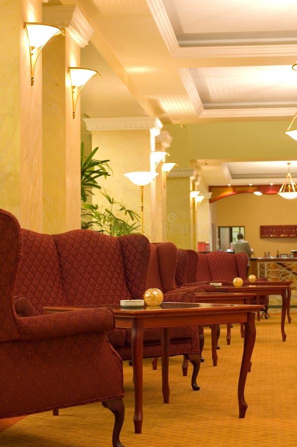 Classic hotel lobby stock photo