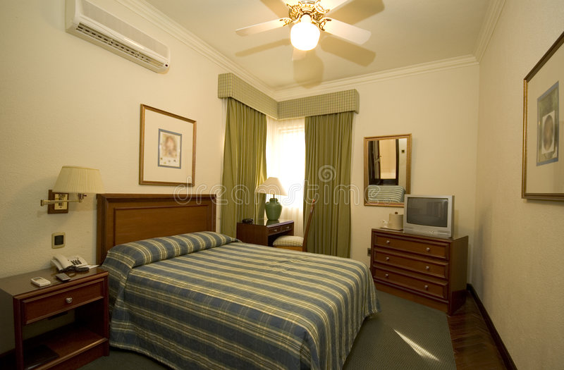 Classic hotel room stock photography