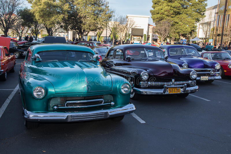 Classic Hotrods. Blackhawk Cars and Coffee Car Show in Danville Ca all Photos taken by Luigi Dionisio Feb 1 2015 stock photo