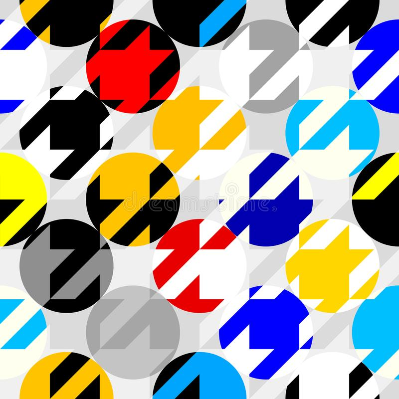 Classic Hounds-tooth pattern in a patchwork collage style. Seamless geometric pattern. Classic Hounds-tooth pattern in a collage style. Vector image royalty free illustration