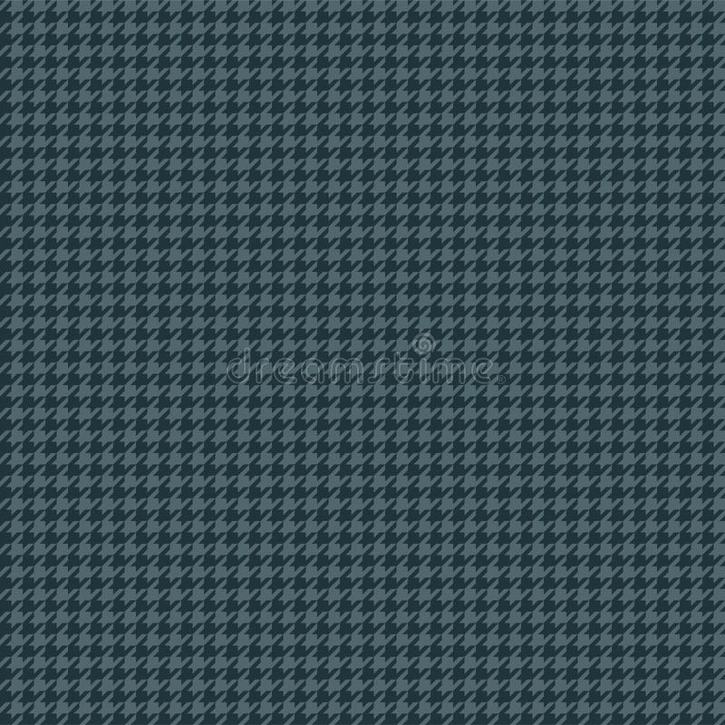 Blue Houndstooth Seamless Pattern vector illustration