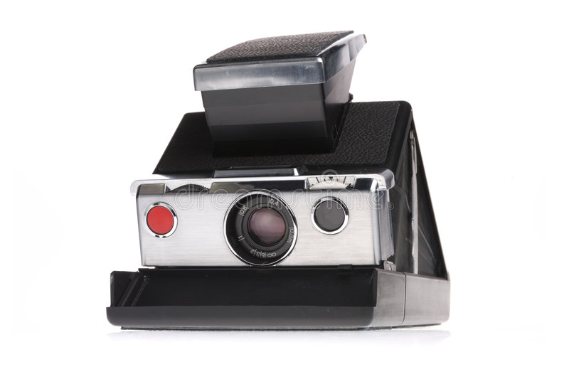 Classic Instant Polaroid Camera stock photo