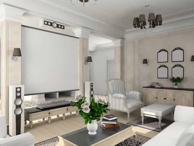 Classic interior. stock photos