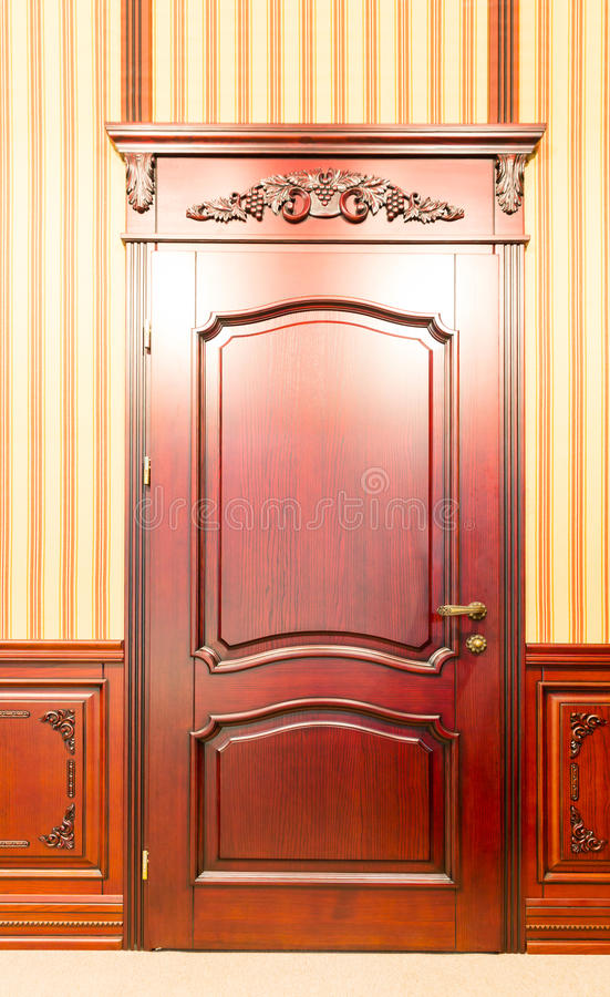 Download Classic Interior And Front Wooden Doors Stock Image   Image Of  Carving, Building: