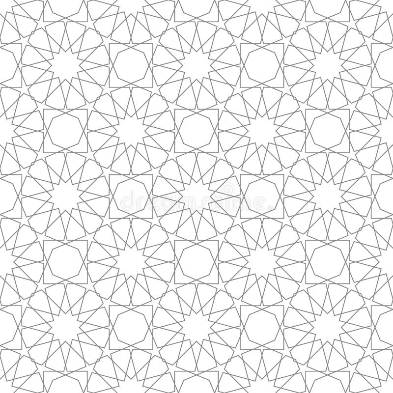 classic islamic seamless pattern black white vector illustration stock vector illustration of ornate shape 83885371 classic islamic seamless pattern black