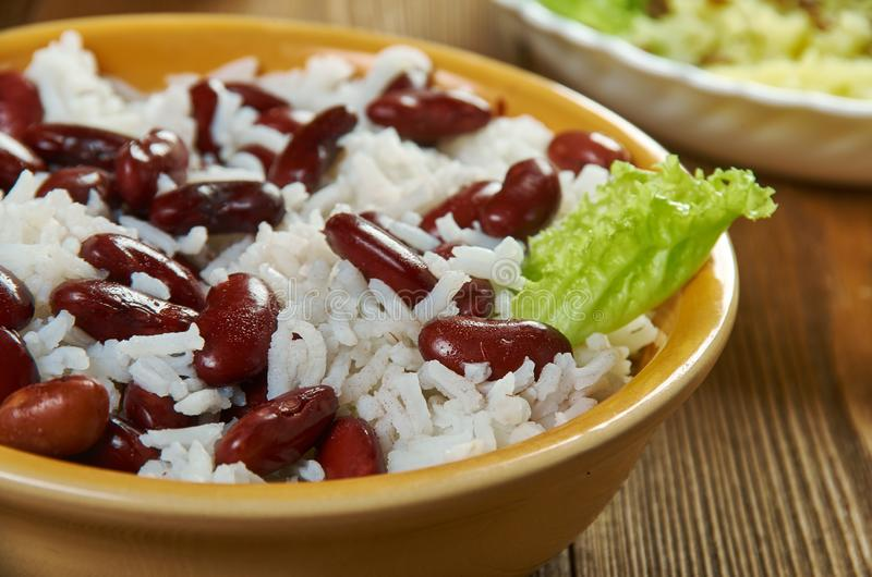 classic jamaican rice and peas stock photo  image of