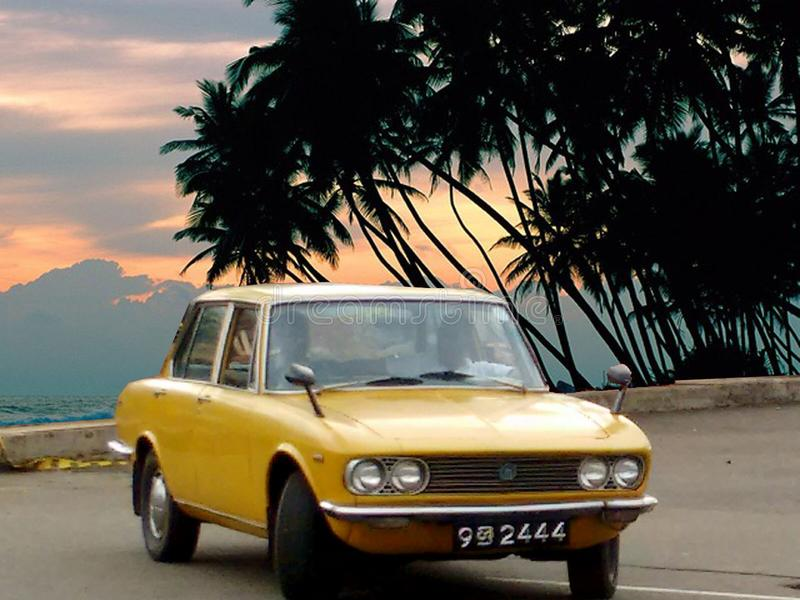 Classic japan family car. This Mazda929 is a classic car made in 1970s this was a family limosine with 2000cc engine this car is originaly restored with a royalty free stock photos