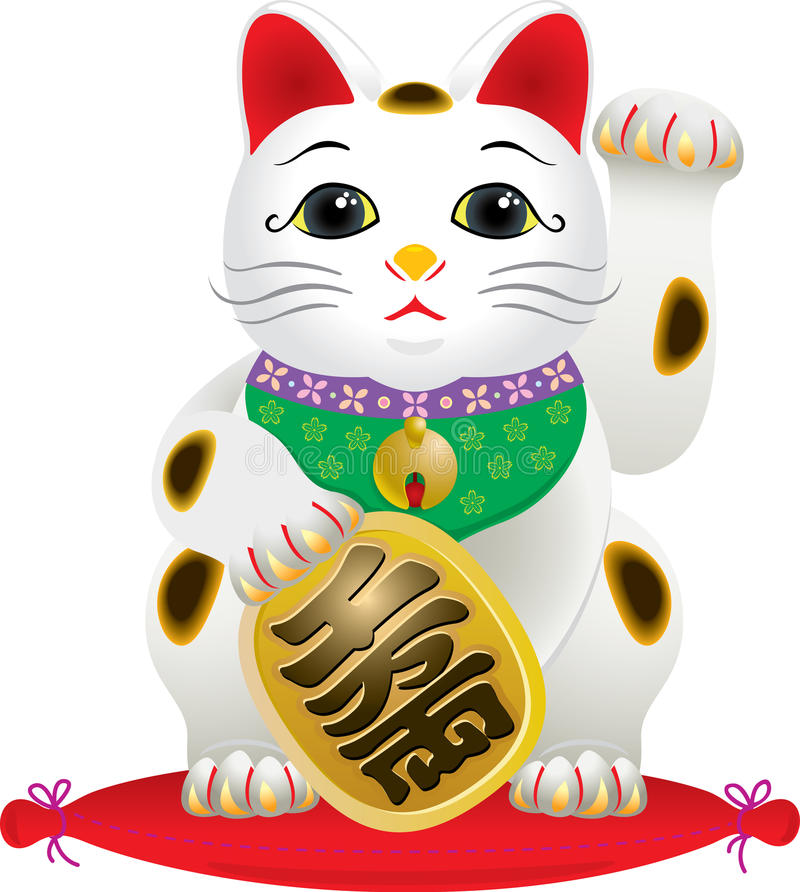 Classic japanese Lucky Cat vector illustration