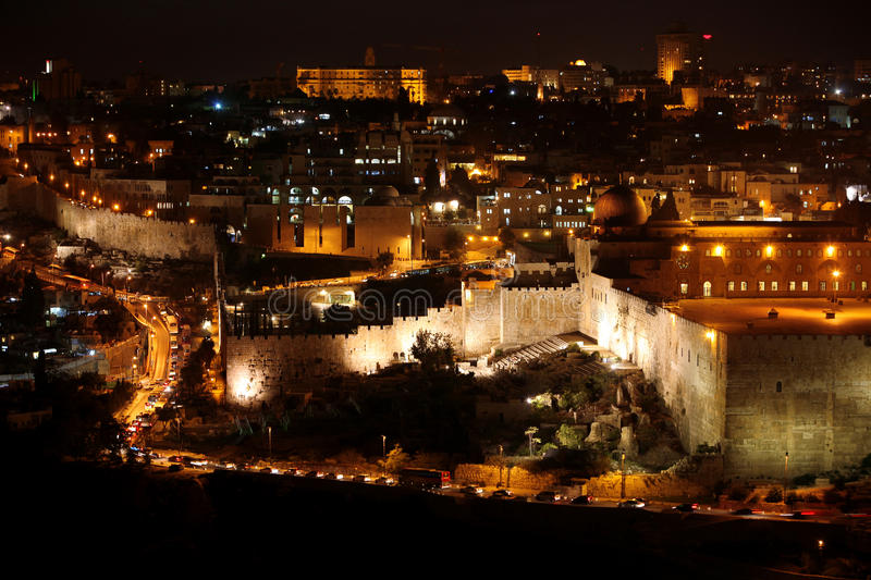 Download Classic Jerusalem - Night In Old City Stock Image - Image: 17009727