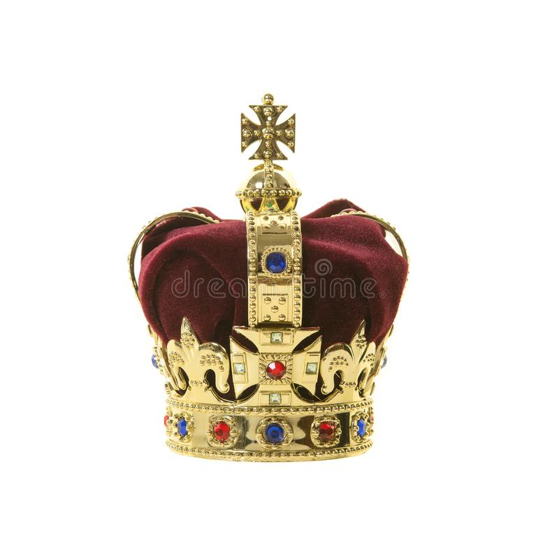 Classic king's crown on a white background royalty free stock photography