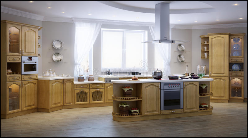Classic kitchen stock images