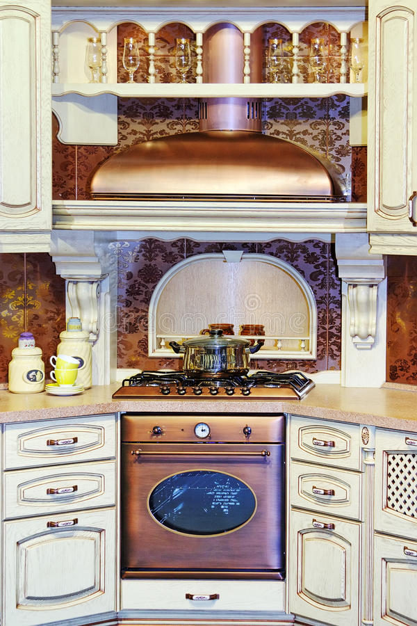 Download Classic kitchen interior stock image. Image of counter - 11440313