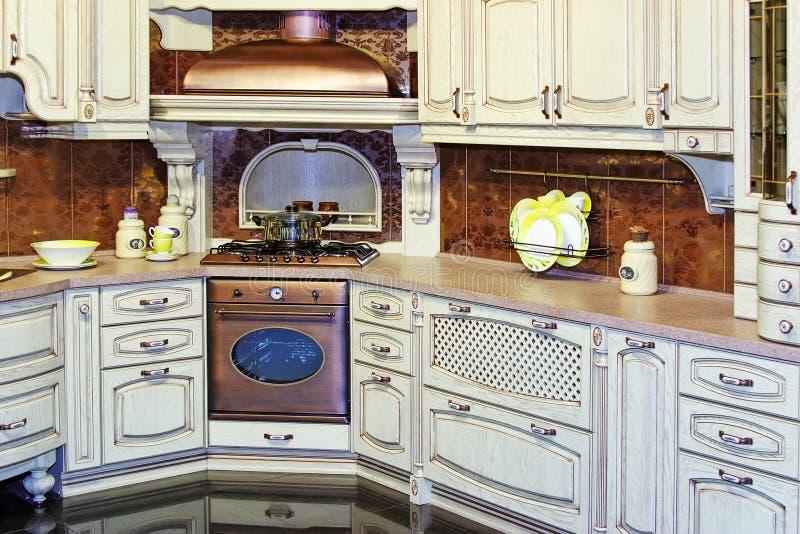 Classic Kitchen Interior Stock Photography