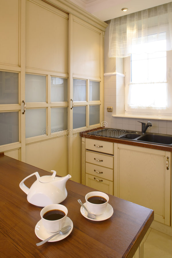 Download Classic Kitchen With Teapot And Cups Stock Photography - Image: 1923992