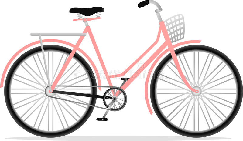 Classic lady bicycle royalty free illustration