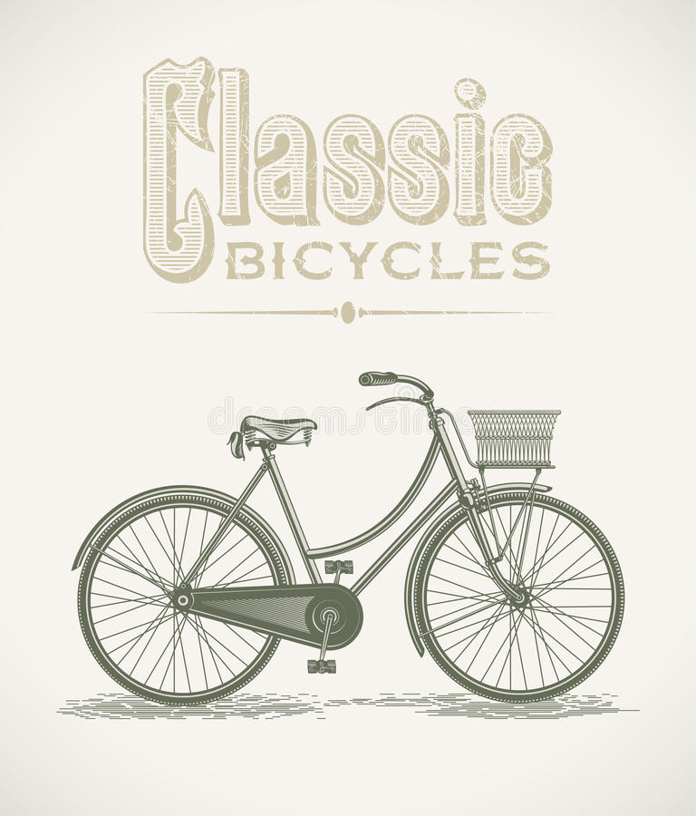 Classic Ladys Bicycle Royalty Free Stock Photo