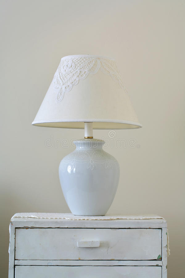 Download Classic Lamp On Dresser Stock Image. Image Of Furniture   55156427