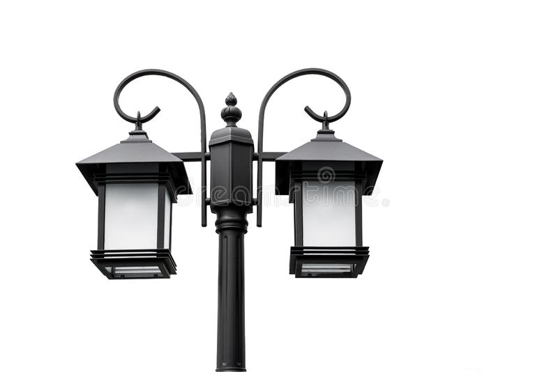 Classic of lamps and beautiful shapes used in home decoration on white background royalty free stock image