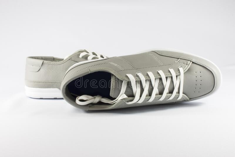 Classic leather sneakers royalty free stock photos