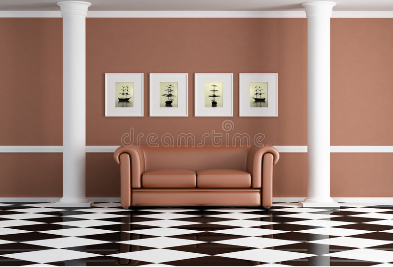 Download Classic living room stock illustration. Image of vintage - 9219442