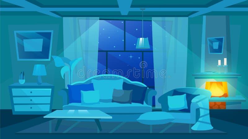 Design Living Night Room Time Stock Illustrations 294 Design