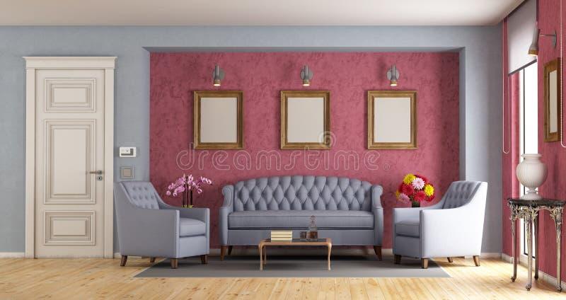 Classic living room royalty free illustration