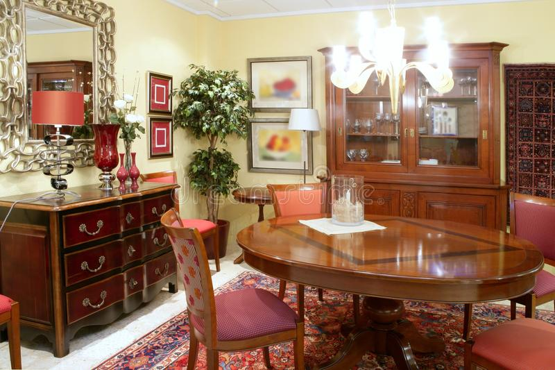 Download Classic Living Room Table Warm Wood Furniture Stock Image - Image: 17315035