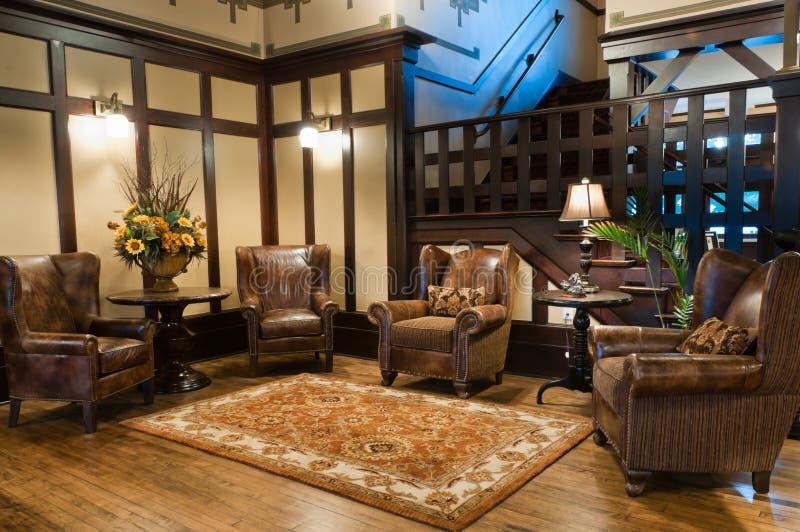 Classic Luxury Hotel Lobby royalty free stock photography