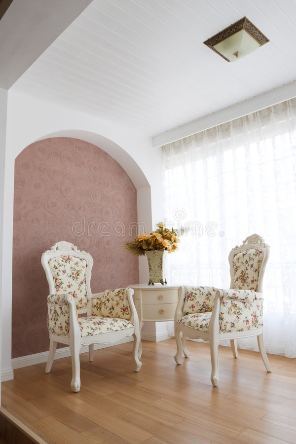 Classic luxury interior stock photos
